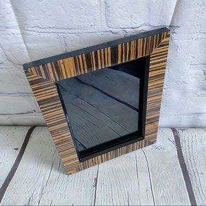 Other - Striped Lacquered Wood 5x7 Picture Frame